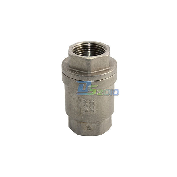 MEGAIRON BSPT 3/4 DN20 In-Line Spring Vertical Check Valve 1000 WOG Spring Loaded In-line Stainless Steel SS316 Control Tool vertical type 1 2 pt female threaded brass tone in line check valve