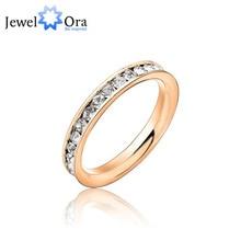 Anillo de bodas y ocasionales diarios accesorios de la joyería para mujer de acero inoxidable anillo para bodas y eventos ( JewelOra Ri100190 )
