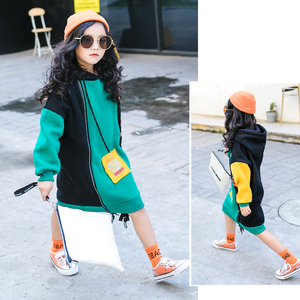 Image 3 - 새로운 히트 컬러 코튼 겨울 따뜻한 스웨터 여자 플러스 벨벳 십대 소녀 후드 두꺼운 아이 티셔츠 어린이 의류