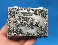 China S Beautiful Tibet Silver Jewellery Box Carved Rose The Carriage