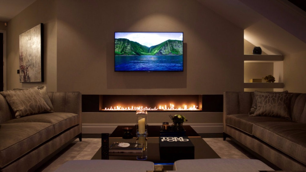 On Sale 48 Inch Indoor Fireplace Ethanol For Luxury Home Decoration Wifi