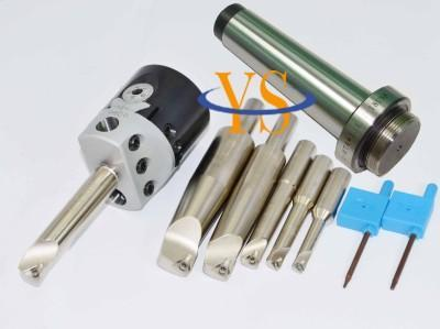 New MT4 M16 & F1 75mm boring head & shank 18mm 6pcs borng bar & 10pcs carbide inserts цена
