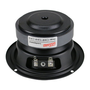 Image 2 - GHXAMP 4,5 дюймовый Hi Fi динамик средних басов 80 Вт 115 мм, динамик средних частот для книжной полки, автомобильный аудио резиновый край, 1 шт.