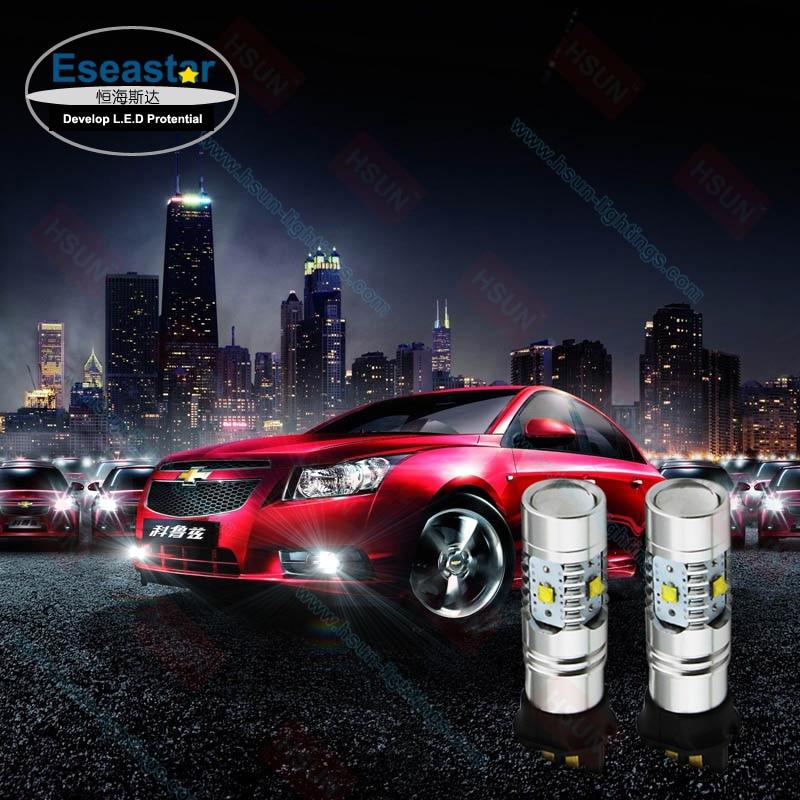 2 pcs/lot eseastar PWY24W Auto LED Daytime Running Light, Golf 7 LED Light Bulb, 25W High Power PWY24W Led Lamp