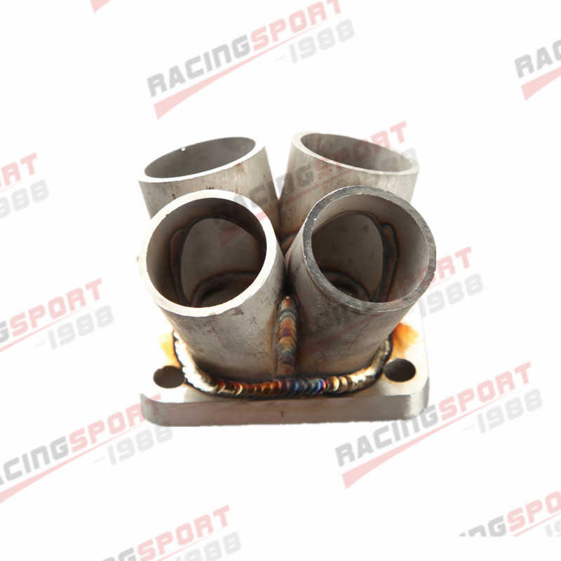 все цены на 4-1 4 Cylinder Manifold Header Merge Collector Stainless Steel T3 T3/T4 Flange онлайн
