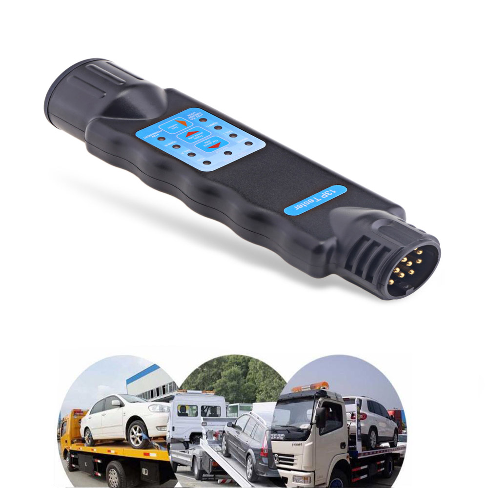 Universal T23331 13 Pin Trailer Plug Socket Connection Tester Vehicle Diagnostic Tool