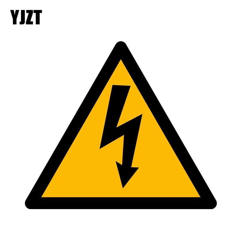 YJZT 14.5CM*12.6CM Warning Of Dangerous Warning PVC Car Sticker Window Decal  12-0403