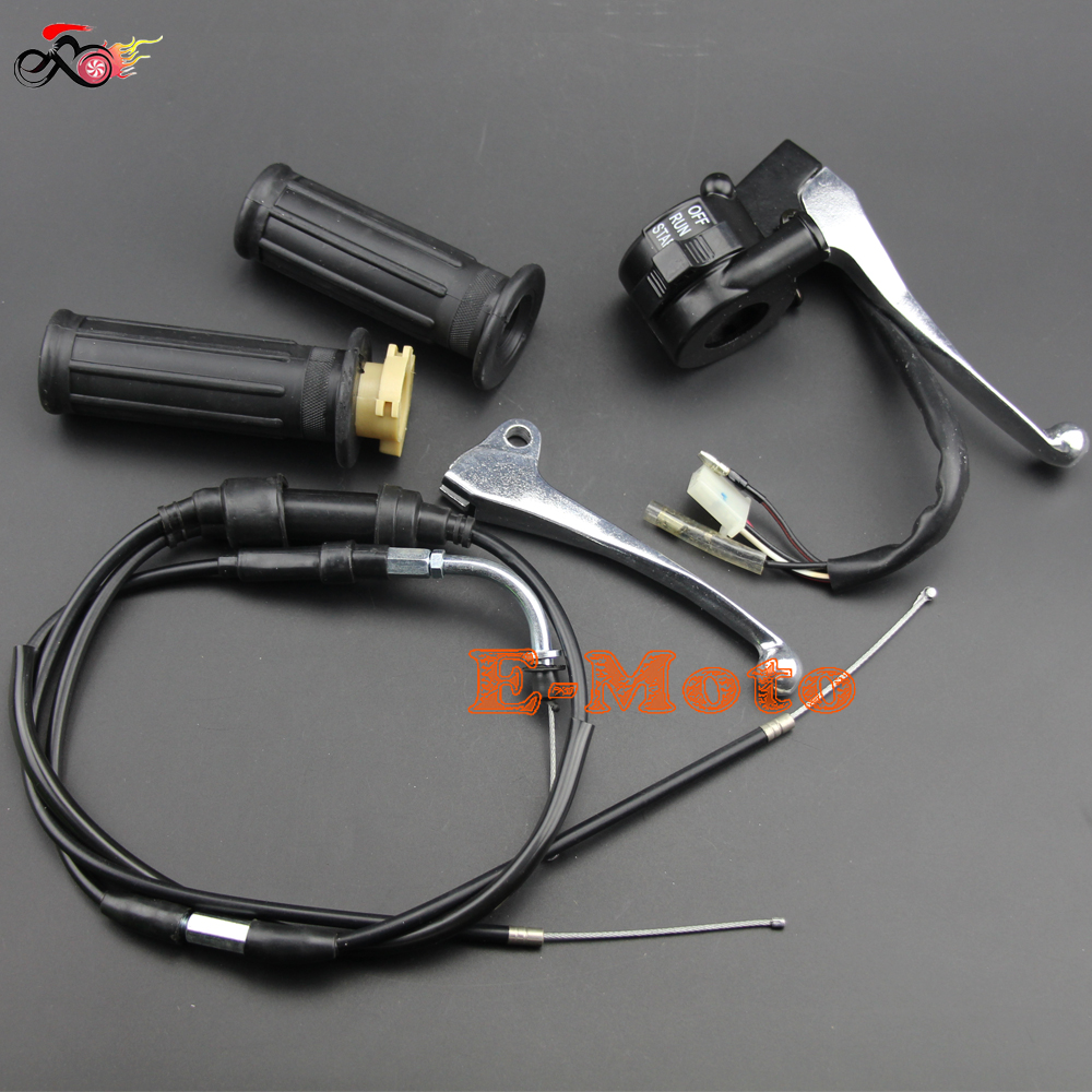 THROTTLE HOUSING KILL SWITCH BLOCK BRAKE LEVER GRIPS THROTTLE CABLE FOR PW50 PY50 PY PEEWEE PW 50 Y ZINGER E Moto-in Motorbike Ingition from Automobiles & Motorcycles