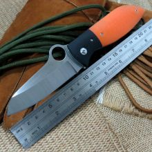 Great Hand Tool EDC Tool C184 Folding knife 9CR18MOV Blade G10 Handle Hunting C184GPOR Knife Camping Survival Pocket Knife