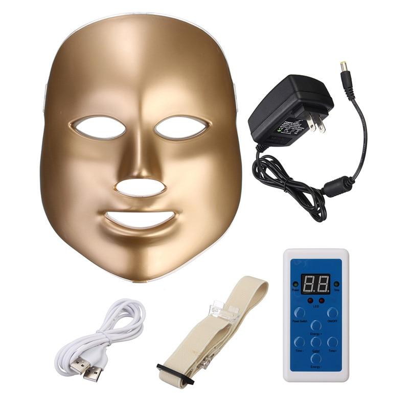 Здесь продается  Skin Rejuvenation LED Face Mask 7 Colors LED Photon Facial Mask Wrinkle Acne Removal Spa Device White Facial Masker  Красота и здоровье