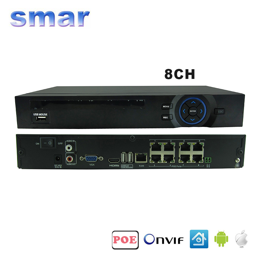 48V 802 3af ONVIF 2 3 8CH POE NVR H 264 Network font b Video b