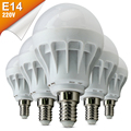 E14 CONDUZIU a Lâmpada 220 V Lâmpada 3 W 5 W 7 W SMD5730 Luz lampadas de Bombillas Focos Spotlight ampola Power LEDs Bulb Bubble Ball lâmpada