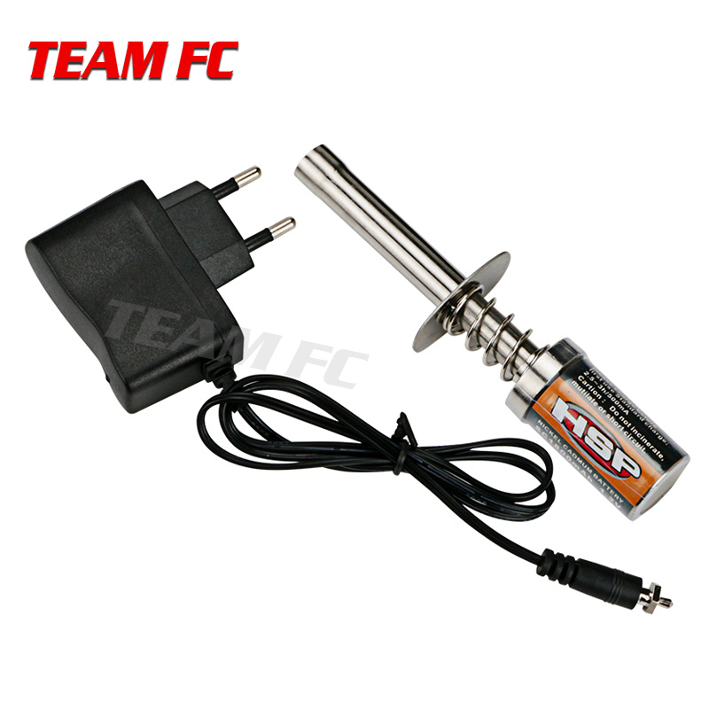 HSP 80101 RC Nitro 1.2 V 1800MAH RECHARGEABLE starter Glow Plug Igniter AC Charger for Gas Nitro Engine Power 1/10 1/8 RC Car
