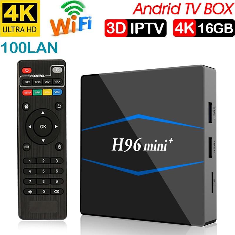 Android 7,1 TV Box WiFi S905W smart tv box android 2 GB ram Quad Core décodeur caja de tvbox 4 K lecteur multimédia X 96 décodeur