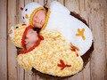 Бок бок Пасхального Цыпленка Ребенка Шляпу и Кокон Набор твин
