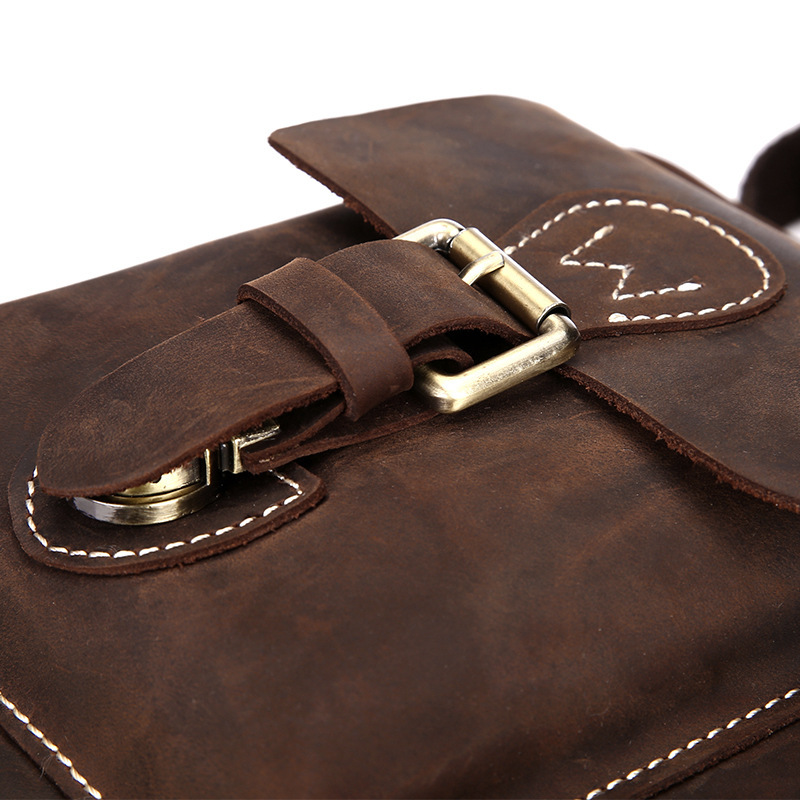 Fashion Men Shoulder Bags Crazy Horse Leather Man Crossbody Bags Small Casual Male Handbags Messenger Bag 2019 Flap High Quaity