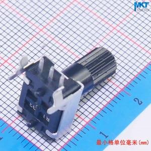 100 Pcs 10 K (103) Ohm B-Tipo Linear 10mm Shaft Rotary Potenciômetro Trimmer, Variável Resistor