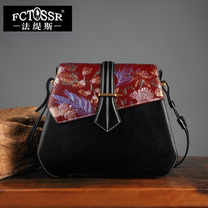New Arrival Handmade Women Bag Shoulder Bag Genuine Leather Hand Painted Women Messenger Crossbody Bag Flap Female Handbags new arrival vintage women handbag genuine leather purse female small bag messenger crossbody bag hand painted women shoulder bag