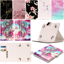 Universal Funda Capa For All 7 inch Tablets Fashion Marble Pattern Leather Wallet Flip Case Tablet Ebook Cover Coque Skin Cases цена 2017