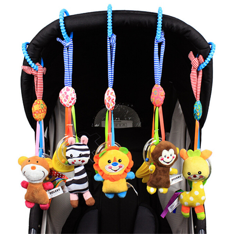 New Hot Infant Toys Mobile Baby Plush Toy Bed Wind Chimes Rattles Bell Toy Baby Crib Bed Hanging Bells Toys SA972822