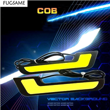 цена на 1 Pairs LED DRL L Shape DC 12V Car Head Light White LED COB Car Auto Driving Daytime Running Lamp LED Fog Front Light
