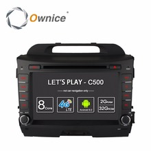 Android 6.0 4g lte sim de coches reproductor de dvd gps de ownice C500 para KIA sportage Sportage r 2010-2015 radio de coche BT wifi 2 GB RAM