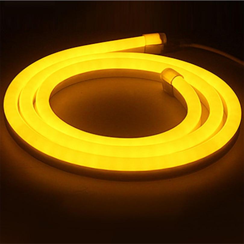 1 м/2 м/3 м/4 м/5 м/6 м/7 м /8 м/9 м/10 м AC220V IP68 Водонепроницаемый 120 светодиодный/M Гибкая неоновый светодиодный полосы свет Рождество наружной отделки...