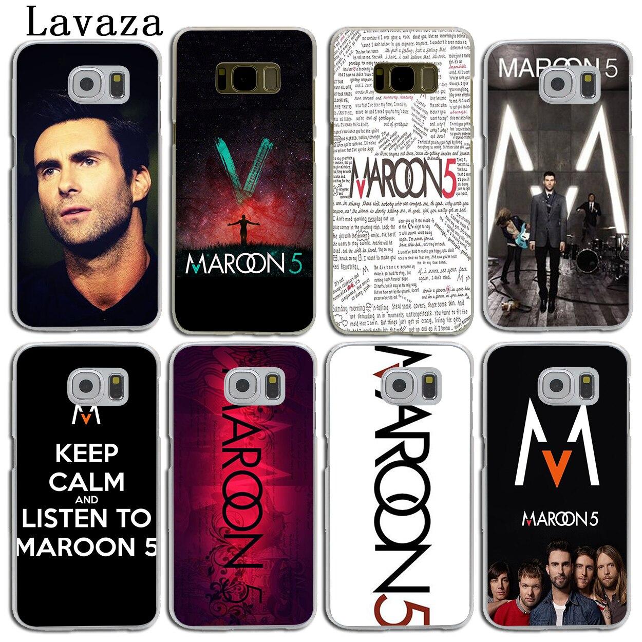 Lavaza maroon 5 Hard Skin Phone Shell Case for Samsung Galaxy S7 S6 Edge S8 S9 Plus S3 S4 S5 & Mini S9 Cover