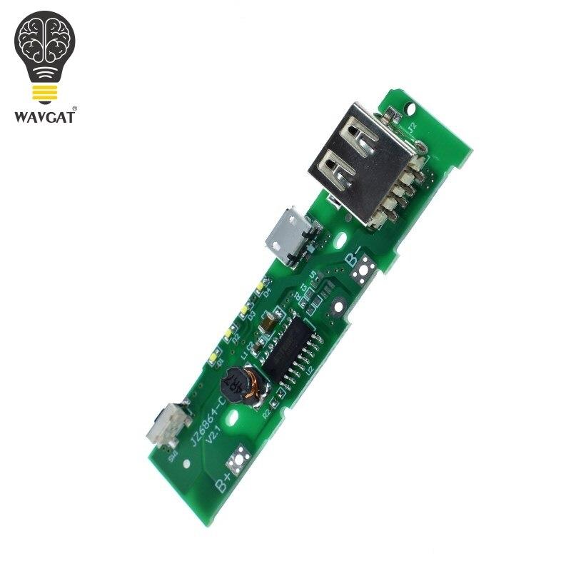 WAVGAT 5V 1A power bank ładowarka modułu bezprzewodowego ładowania płytki drukowanej doładowania moduł zasilania dla Xiaomi mobilny powerbank DIY