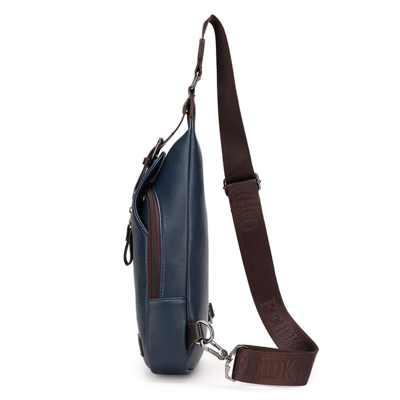 Ny Ankomst Högkvalitativ PU Läder Män Väska Män Bröstpaket - Väskor för bagage och resor - Foto 4