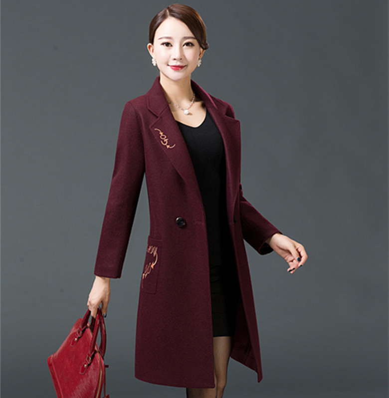 Ms Long section Europe and the United States Long section Solid color Hairy font b jacket