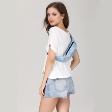 New 3D Colorful Fanny Pack Women Money Travelling Bag with Hole for Headphones
