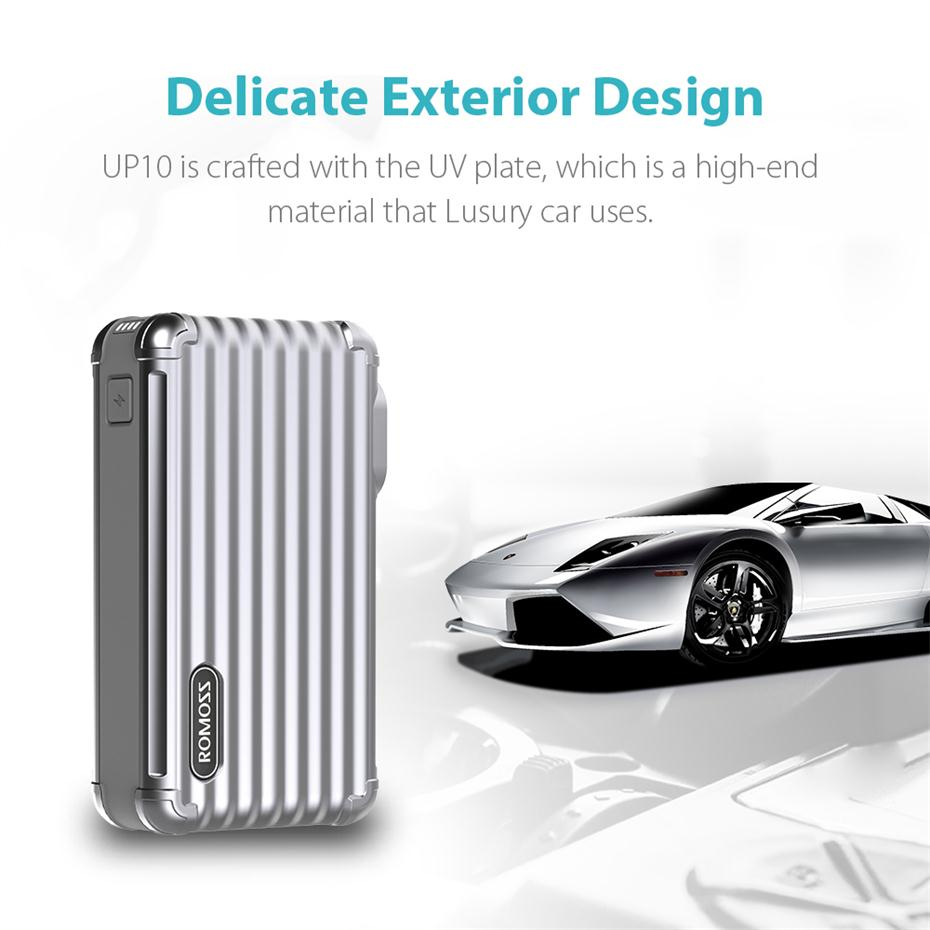 10000mAh 2-in-1 Power Bank and Wall Charger ROMOSS UP10 Dual Port USB Portable Charger 8
