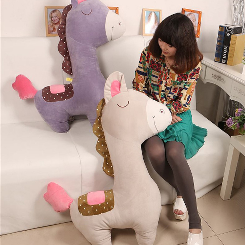 Fancytrader 100cm Giant Cute Soft Animal Horse Plush Pillow 39'' Big Stuffed Cartoon Horse Toy Doll Baby Present - 3