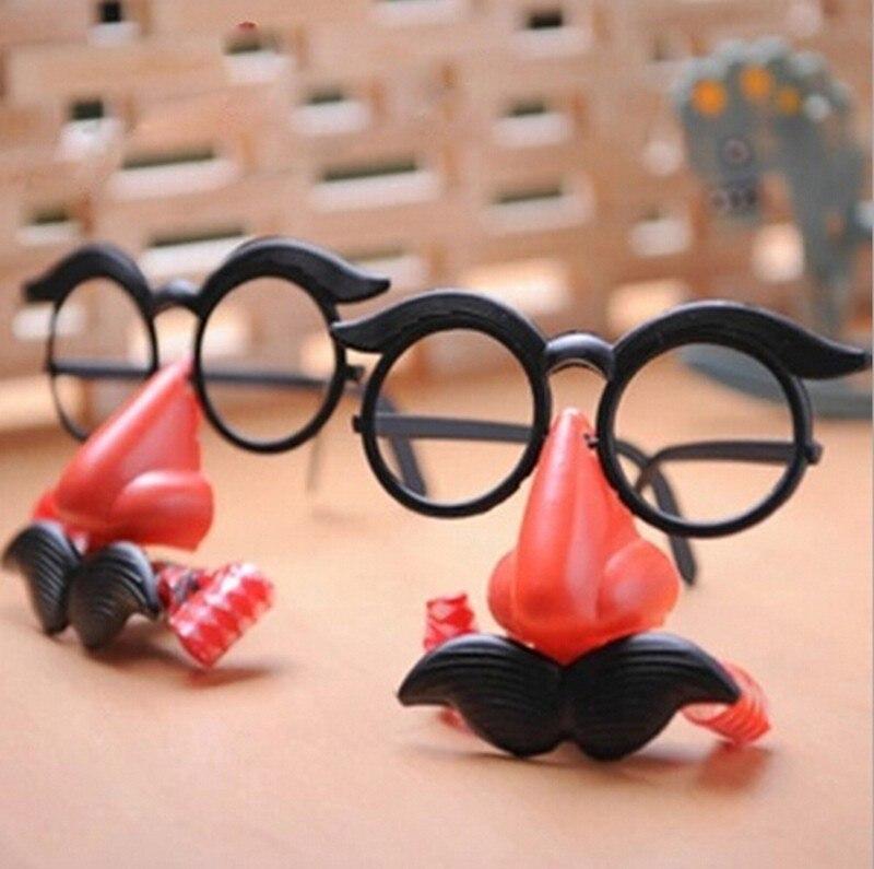 Super Funny JUMBO RED CLOWN GLASSES Costume Accessory