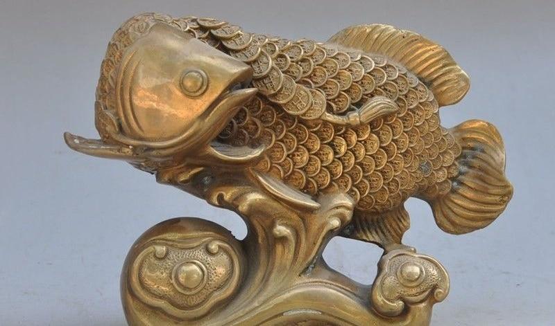 Japanese bronze copper goldfish fish wealth money lucky Auspicious art statueJapanese bronze copper goldfish fish wealth money lucky Auspicious art statue