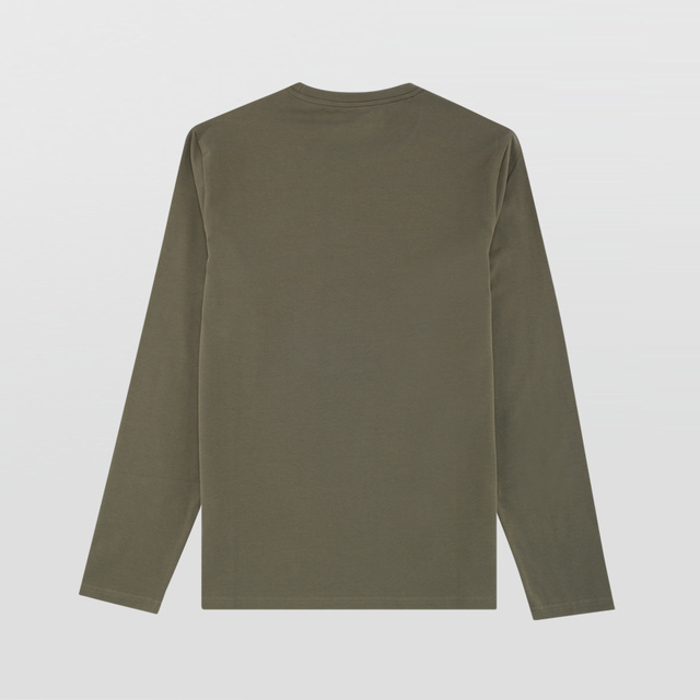 Calvin Klein Jeans / CK 2017 Autumn Winter New Men's Slim Round Neck Long Sleeve T-shirt Men Camouflage Print Tops Tees 4AFKNM6