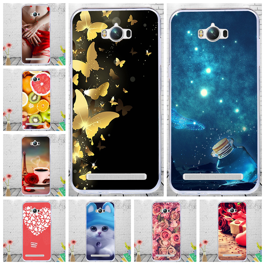 J&R Painted Soft Cover For Zenfone Max ZC550KL ZC ZC550 550 550KL KL Silicon Case For <font><b>ASUS</b></font>_<font><b>Z010D</b></font> Z010DA Cases Flower image