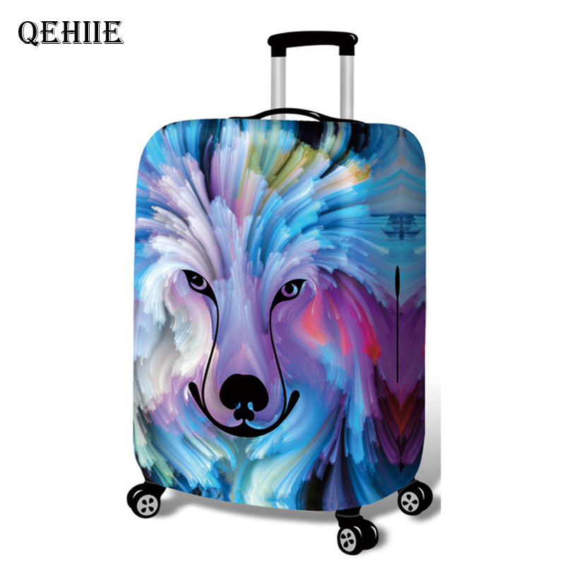 Beauty Beast Suitcase Luggage Cover Cool Cowboy Cartoon Trolley Case Elastic Protection Cover High Quality Travel Accessories