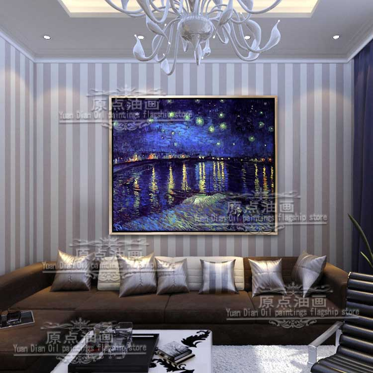 Famous Art Hnadpainted Masters Starry Night Vincent Van