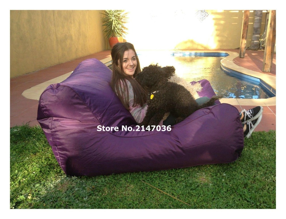Majestic Home Goods purple Bean Bag Chair Lounger Navy Blue