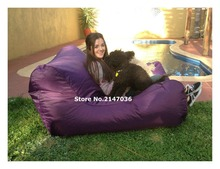 Majestic Home Goods purple Bean Bag Chair Lounger, Navy Blue