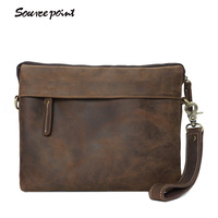 SOURCE POINT Genuine Leather Bag Men Bags Small Casual Flap Shoulder Crossbody Bags Vintage Teenage Handbags 2017 New YD-05304#
