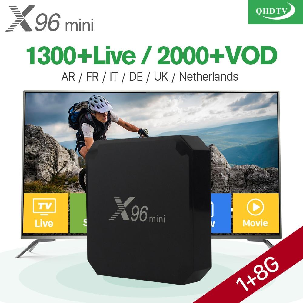 X96 mini Android 7.1 Smart TV IP Box 4 K Quad Core 1 Anno di Abbonamento Codice QHDTV Europa Canali X96mini Francese Arabo IPTV Box