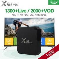 X96 Mini Android 7 1 Smart IP TV Box 4K Quad Core 1 Year QHDTV Code