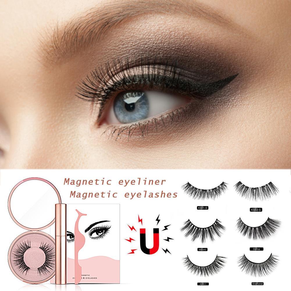 eyeliner magnetico eyeashes kit impermeavel longa duracao eyeliner cilios posticos 40p