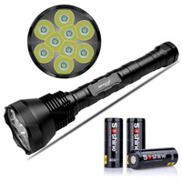 NKTECH Super Bright NK 9T6 9x CREEXML T6 LED 11000 Lumens 5 Modes Flashlight Torch With