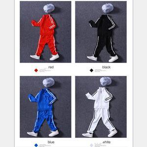 Image 3 - ערכות בגדי נערי הגעה חדשים אביב 2018 ילדים באיכות גבוהה של צבע טהור ספורט חליפה בגיל ההתבגרות ילדה בית ספר מדים 6 15Years