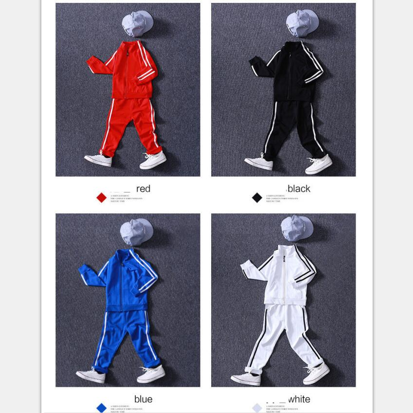 Image 3 - New Arrival Boys Clothing Sets Spring 2018 High Quality Childrens Pure Color Sports Suit Teenage Girl School Uniforms 6 15YearsClothing Sets   -