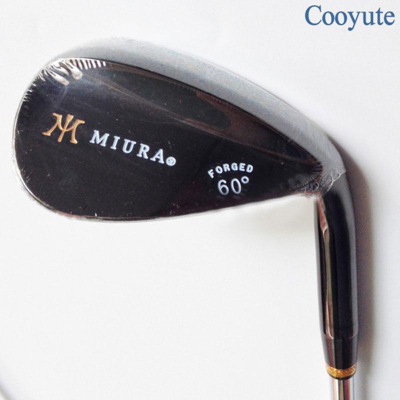 Cooyute New Mens Golf Clubs Miura Black Golf Wedge 52.54.56.60 Degrees Dynamic Gold R300 Steel Golf Shaft Clubs Free Shipping